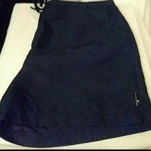 Nike vintage nylon navy blue shorts